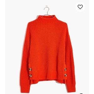 Madewell Orange Mockneck Sweater